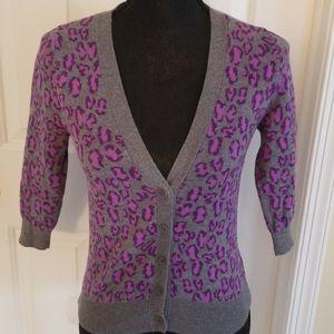 ☆ dELiA*s ☆ Animal Print Button Sweater Cardigan